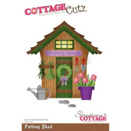 """CC754 CottageCutz Dies Potting Shed 3.4""""X3.9"""""""