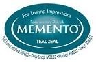 222122 Memento Full Size Dye Inkpad Teal Zeal