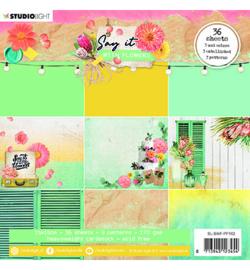 SL-SWF-PP162 StudioLight SL Paper pad Pattern Paper Say it with flowers nr.162