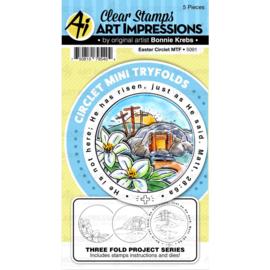 571595 Art Impressions Circlet Mini TryFolds Stamp & Die Set Easter