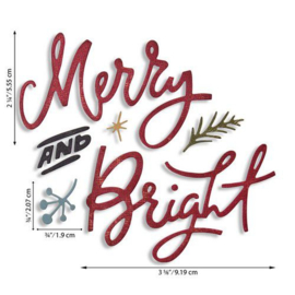 667394 Sizzix Thinlits Die Set - Merry & Bright 6PKTim Holtz