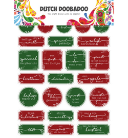 491.200.010 Dutch DooBaDoo Dutch Sticker Art Christmas