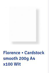2922-097 Florence • Cardstock A4 wit