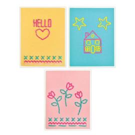 663622 Sizzix Thinlits Die Set House Heart Flower&Star Stitchlits by Jordan Caderao 6PK