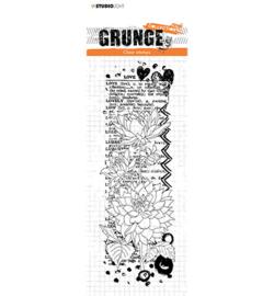 SL-GR-STAMP103 StudioLight Clear Stamp Dahlia flower love Grunge nr.103