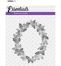 SL-ES-EMB04 - SL 3D Embossing Folder Wreath of leaves Essentials nr.04