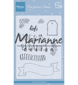MZ1904  Marianne Design Stempel Marjoleine's teksten en labels (NL)