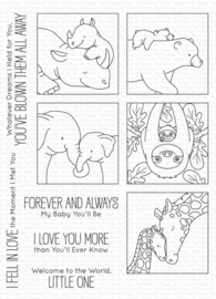 "BB-116 My Favorite Things I'll Love You Forever Clear Stamps 6""X8"""
