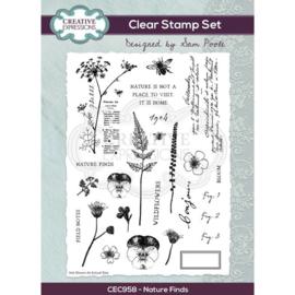 CEC958 Creative Expressions Clear stamp set Natuur vondst
