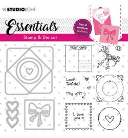 BASICSDC56 StudioLight SL Stamp & Cutting Die Square envelope Essentials nr.56