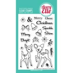 417162 Avery Elle Clear Stamp Set Kitsch Christmas