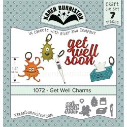 KBR1072 Karen Burniston Dies Get Well Charms