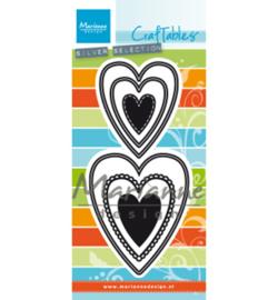 CR1461 Marianne Design Craftables Nest die hearts (M)