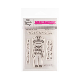 "PI306 My Favorite Things Pure Innocence Stamps Thank You, Officer 3""X4"""