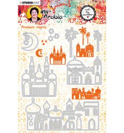 STENCILBM09 Art By Marlene Cutting & Embossing Die Artsy Arabia, nr.09