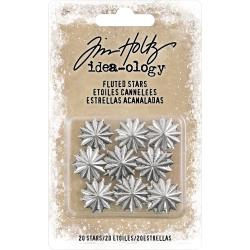 219539 Idea-Ology Fluted Metal Stars Nickel 20/Pkg