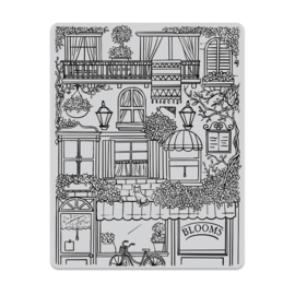 """649322 Hero Arts Cling Stamp Flower Shop Background 4.6""""X5.88"""""""