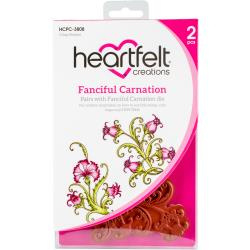 318399 Heartfelt Creations Cling Rubber Stamp Set Fanciful Carnation