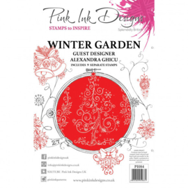 PI084 Creative Expressions Pink ink Winter garden clear stamp