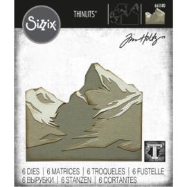 665580 Sizzix Thinlits Dies Mountain Top By Tim Holtz 6/Pkg