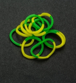 45051 - Band-it - Elastieken Yellow/Green 600pcs