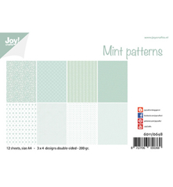 6011/0648 Papierset Design Mint patronen