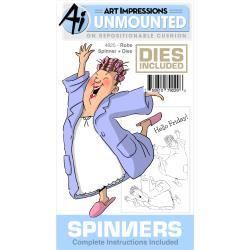 395787 Art Impressions Spinners Stamp & Die Set Robe