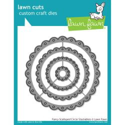 LF1321 Lawn Cuts Custom Craft Die Fancy Scalloped Circle Stackables