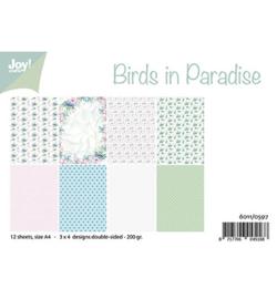 6011/0597 Papierset Birds in Paradise