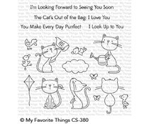 CS-380 My Favorite Things Purrfect Friends Clear Stamps