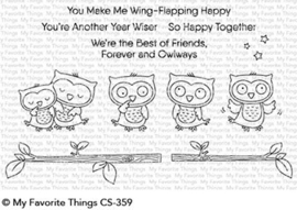 CS-359 My Favorite Things Forever and Owlways Clear Stamps