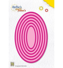 MFD057 Cutting & embossing Straight oval
