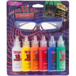 431079 Tulip Dimensional Fabric Paint Kit  Rainbow W/3D Glasses