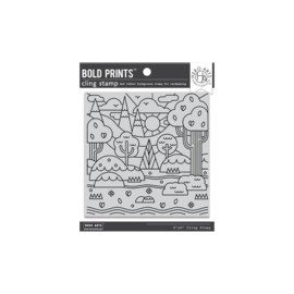 "654816 Hero Arts Cling Stamps Forest Shapes Bold Prints 6""X6"""
