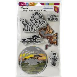 580535 Stampendous Cling Stamp & Die Set Giraffe