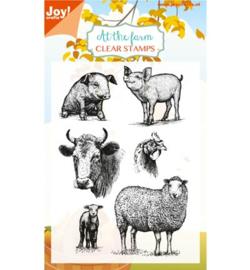 6410/0444 Stempel Boerderij dieren (varkens/schapen/kip/koe)