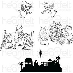 "243381 Heartfelt Creations Cling Rubber Stamp Set O Holy Night 5""X6.5"""