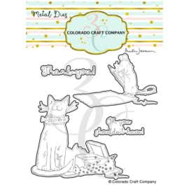 651203 Colorado Craft Company Metal Die Set Thank You Kindly-By Anita Jeram