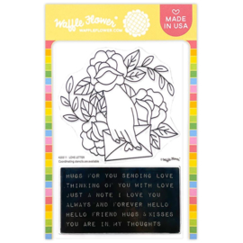 """647566 Waffle Flower Crafts Clear Stamps Love Letter 5""""X7"""""""