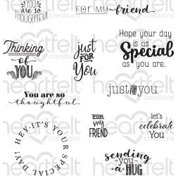 "554386 Heartfelt Creations Cling Rubber Stamp Set Just For You Sentiments 5""X6.5"""