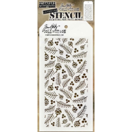 "THS 152 Tim Holtz Layered Stencil Gatherings 4.125""X8.5"""