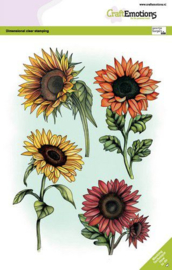 130501/3009 CraftEmotions clearstamps A5 - Zonnebloemen GB Dimensional stamp