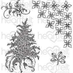 255033 HCPC3816 Heartfelt Creations Cling Rubber Stamp Set Lush Lilac
