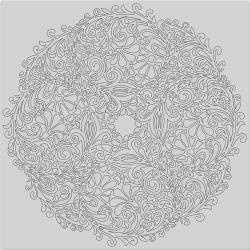 "521056 Hero Arts Cling Stamps Floral Doily Bold 6""X6"""