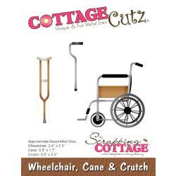"CC397 CottageCutz Die Wheelchair, Cane, Crutch .5"" To 2.4"""