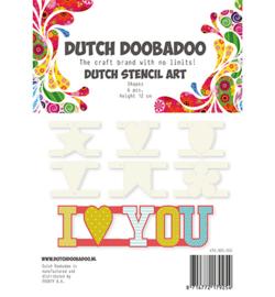 470.990.060 Dutch DooBaDoo Stencil Art Shapes