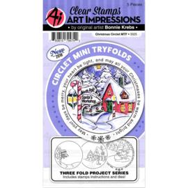 541901 Art Impressions Circlet Mini Tryfolds Stamp & Die Set Christmas