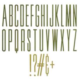 665206 Sizzix Thinlits Die Set - 31PK Alphanumeric Stretch Upper Tim Holtz