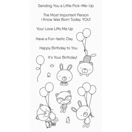 """CS544 My Favorite Things Clearly Sentimental Stamps Balloon Besties 4""""X8"""""""
