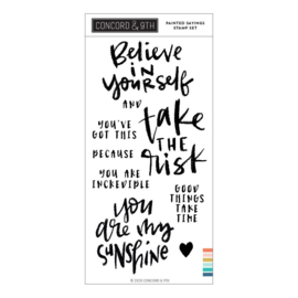 "644008 Concord & 9th Clear Stamps 4""X6"" Painted Sayings"